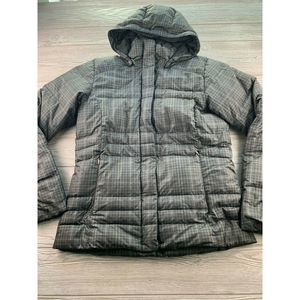 COLUMBIA Large Black & Grey Winter Coat Puffy